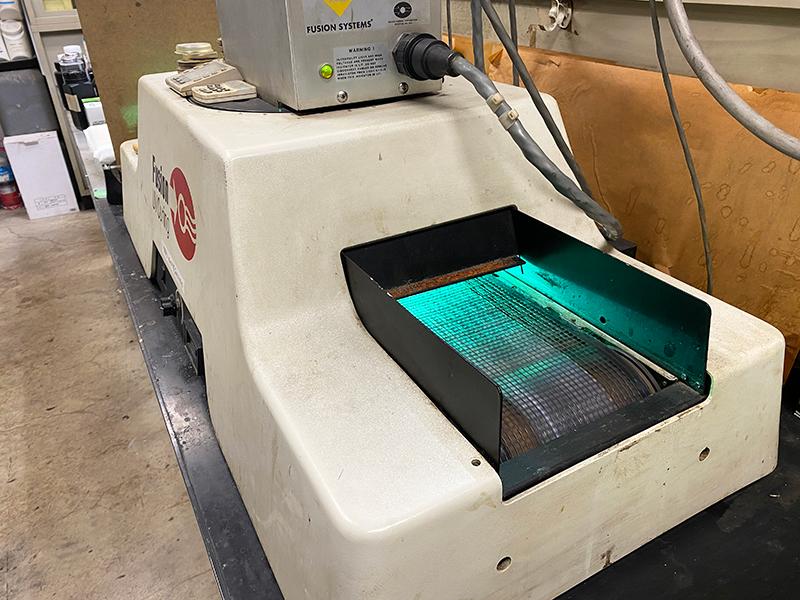 UV硬化の機械